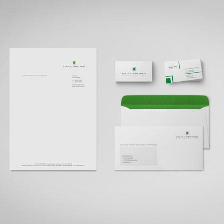 Logo, Geschäftsausstattung, Hausfarben, Typografie, Webseite