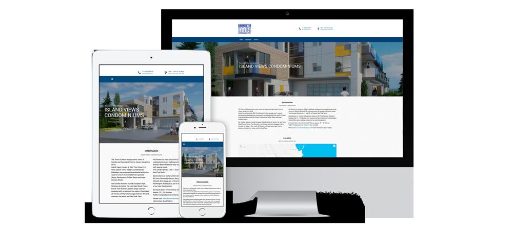 Internetseite zur Vermarktung von Immobilien