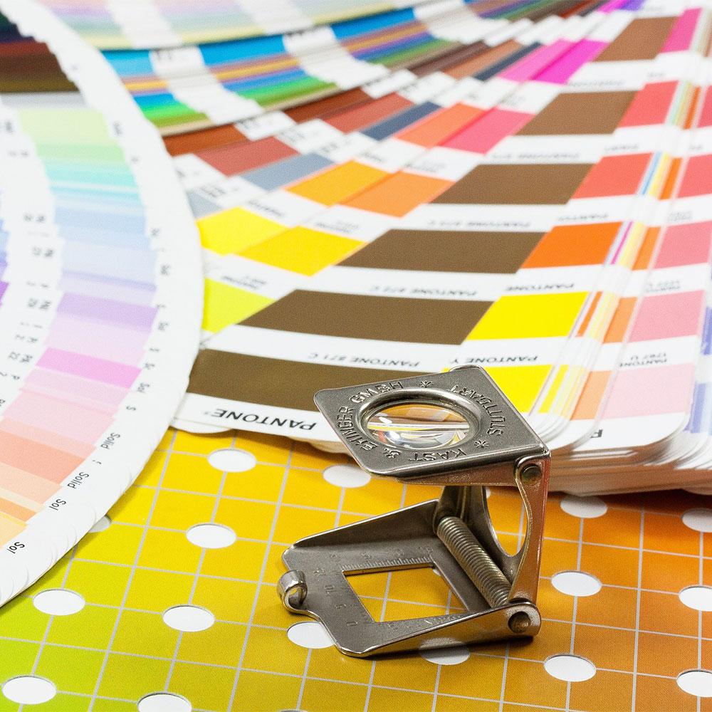 Druckabwicklung und Materialberatung
