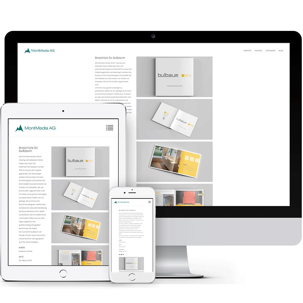 Das neue Webdesign der MontMedia AG