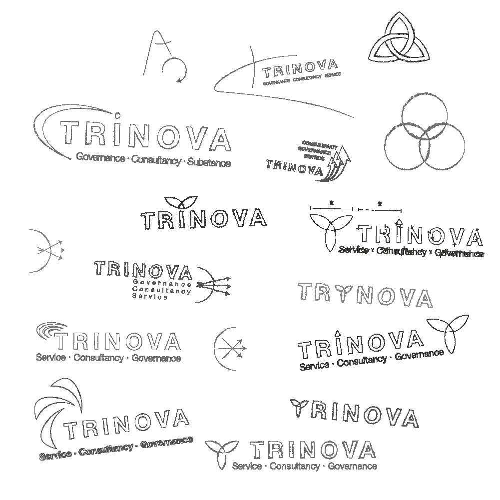 Entwürfe eines neuen Logo Design