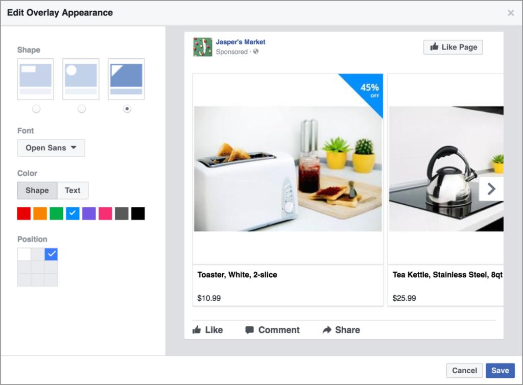 Facebook Overlay - Facebook Dynamic Ads