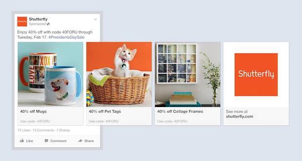 Shutterfly Carousel - Facebook Dynamic Ads