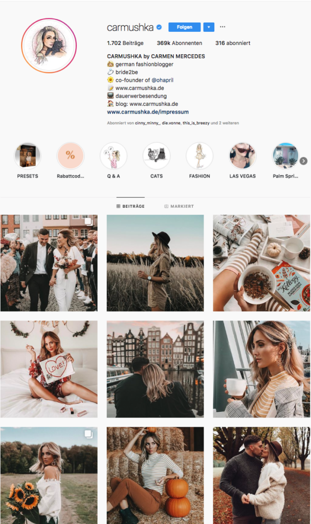 carmushka Instragram-Feed