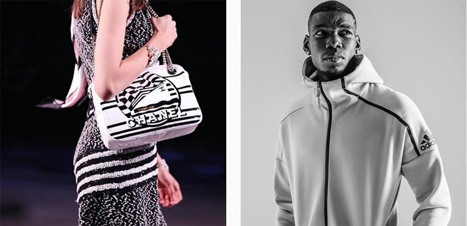 Chanel-Adidas - Halbtotale - Instagram-Feed