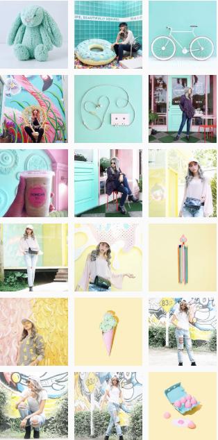 Farbwechsel - Instagram-Feed